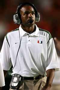 Miami Coach Randy Shannon